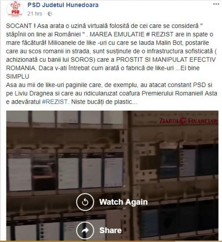 Fake News. O știre falsă este promovată masiv de PSD pe Facebook către membri de partid și alegători