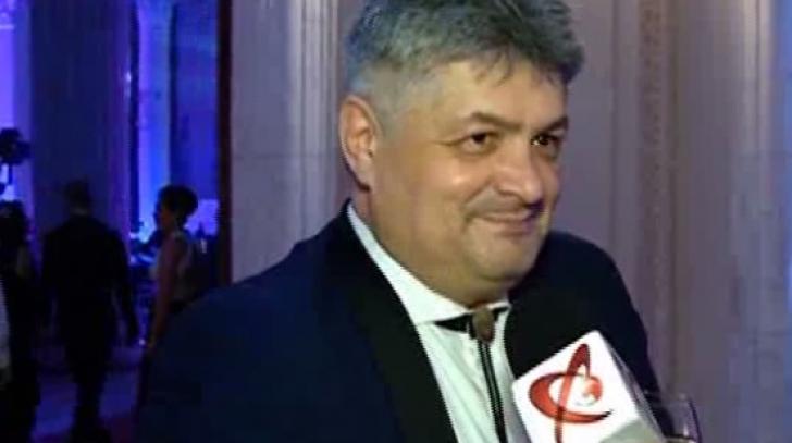 Florin Secureanu a petrecut alături de Vrăbi, iubita sa, la Palatul Parlamentului