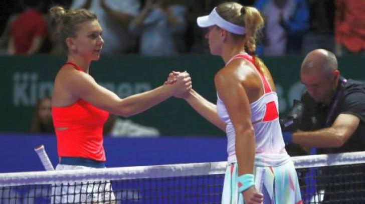 Simona Halep a învins-o pe Angelique Kerber