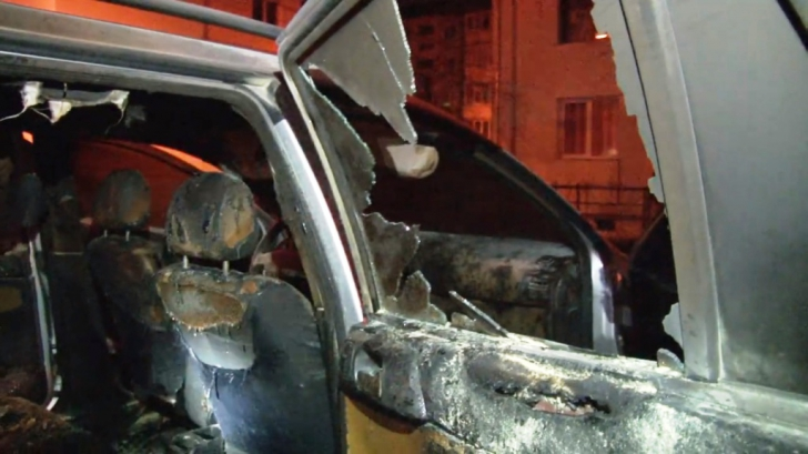 Masina unui sef din poliție, incendiata
