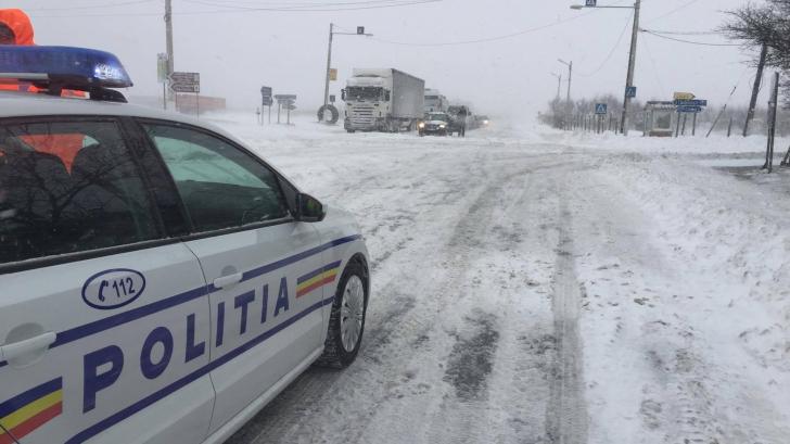 ALERTĂ METEO. Cod galben de vânt puternic şi zăpezi spulberate / Foto: Poliţia Română