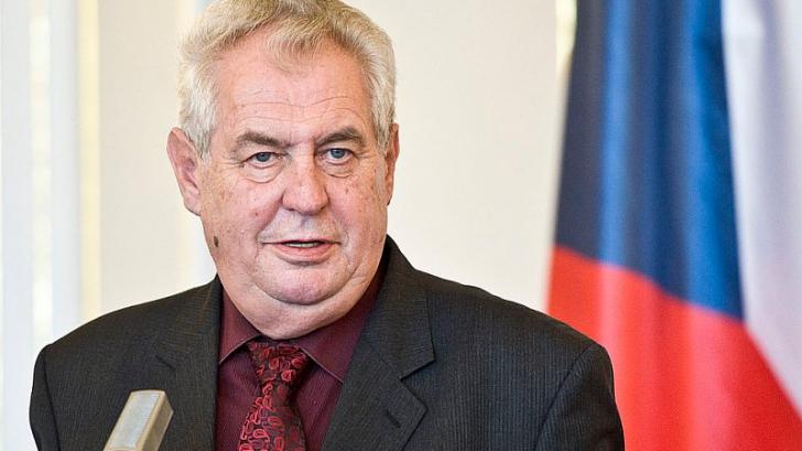 Președintele Cehiei, Milos Zeman