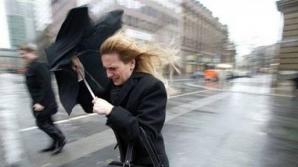 Informare meteo de vânt: Vor fi rafale de 100 km/oră