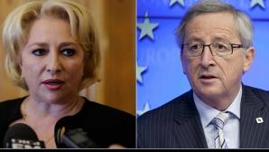 Dancila si Juncker, conferință de presă comună