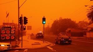 Furtună portocalie în Australia. Un nor de praf a acoperit un oraş întreg