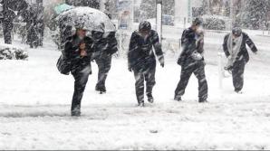 Informare meteorologică de vânt puternic şi ninsori pentru următoarele zile