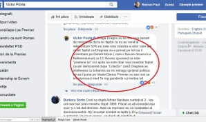 Victor Ponta, postare pe Facebook