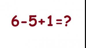 Cât fac 6-5+1=?