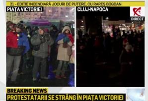 Protest în Piaţa Victoriei, joi seară, după anunţul procedurii de revocare a şefei DNA