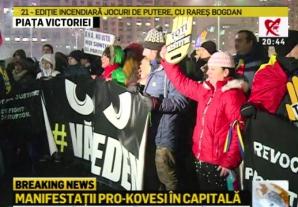 Proteste în Piaţa Victoriei şi în ţară, după anunţul procedurii de revocare a şefei DNA