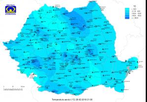 Temperaturi 28 februarie 2018
