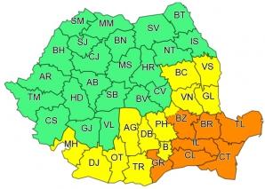 CODURI de vreme extremă în România