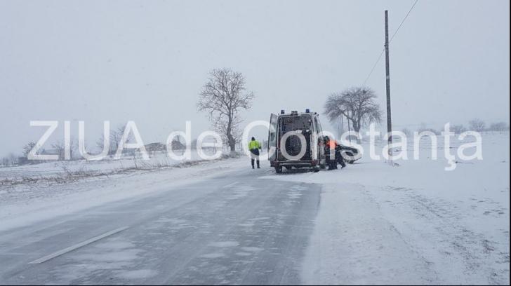 Accident rutier pe DN 3: o persoană a fost rănită
