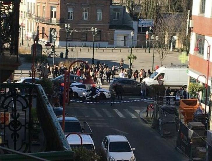 Operațiune antitero la Bruxelles: clădire înconjurată. UPDATE. Alarma, falsă