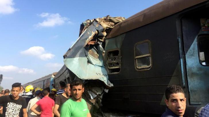 Accident de tren în Egipt