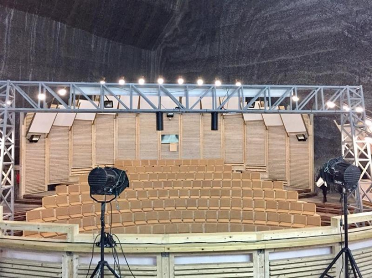 Eurovision 2018. Scena din Salina Turda, gata pentru competiție