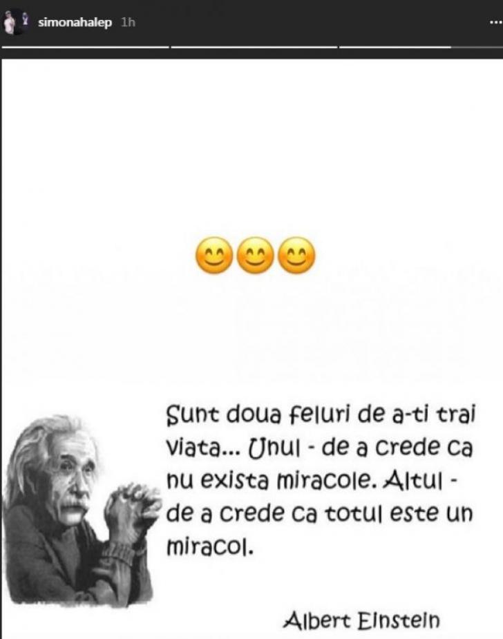 Simona Halep. Legătura dintre numărul 1 WTA şi Albert Einstein