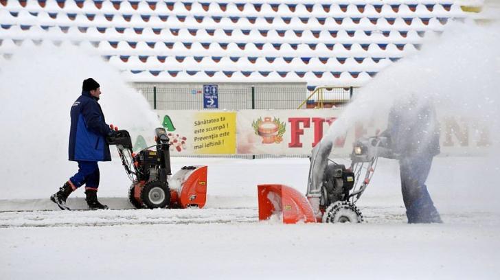 Liga 1. Etapa din week-end se amână din cauza frigului. Play-off-ul şi play-out-ul încep mai târziu