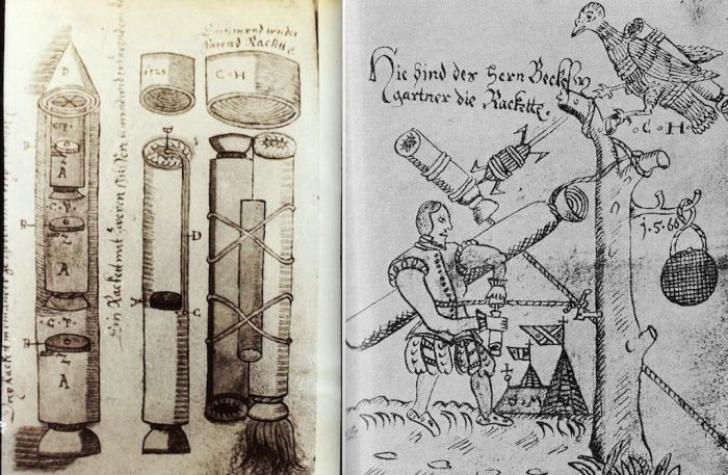 Manuscrisul misterios, găsit în România, care arată cum se construiesc rachetele. Datează din 1570