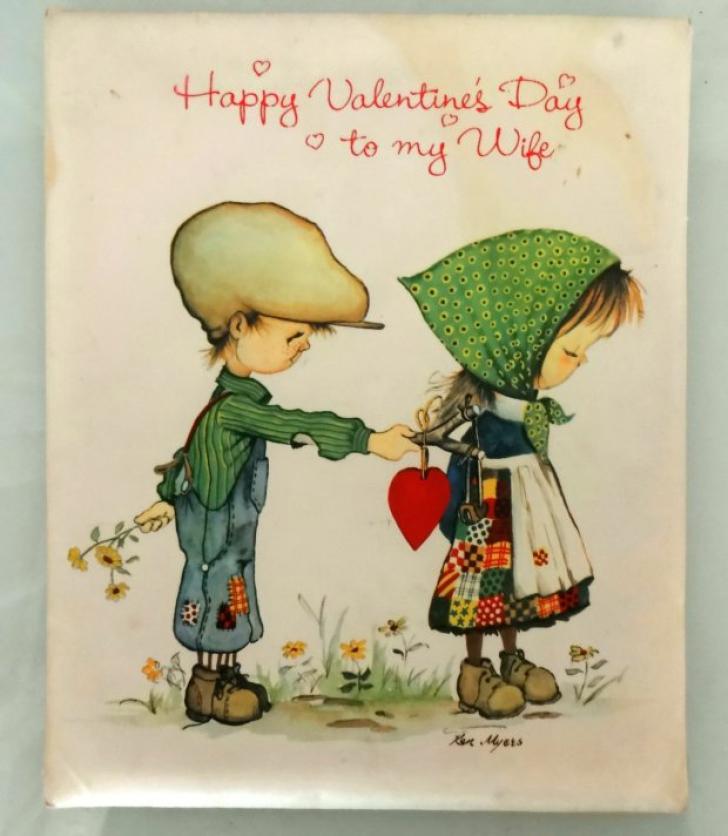 Sfântul Valentin. Cum arată felicitarea pe care un bărbat i-o trimite soţiei sale de peste 39 de ani