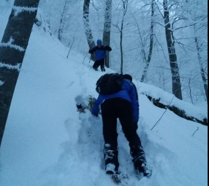 Schiori blocați ore în șir în Bucegi, salvați de jandarmi