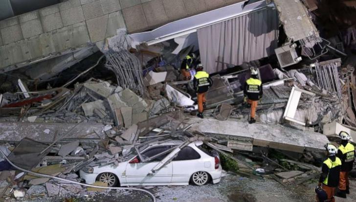 Bilanţul cutremurului din Taiwan creşte la 4 morţi şi 225 de răniţi