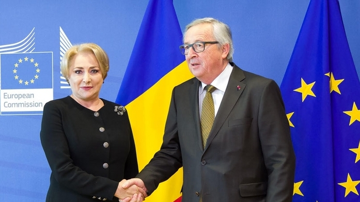 Viorica Dancila si Juncker