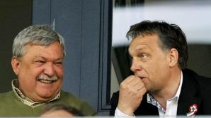 Sandor Csanyi și Viktor Orban, spectatori la un meci de fotbal