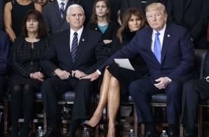 Trump și Melania, ipostază bizară