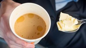 Obiceiul tot mai popular: unt adăugat în cafea. Motivele sunt uimitoare