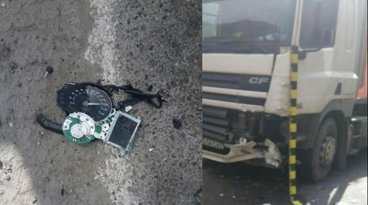 Accident rutier mortal pe Valea Oltului. Un motociclist a intrat sub un TIR
