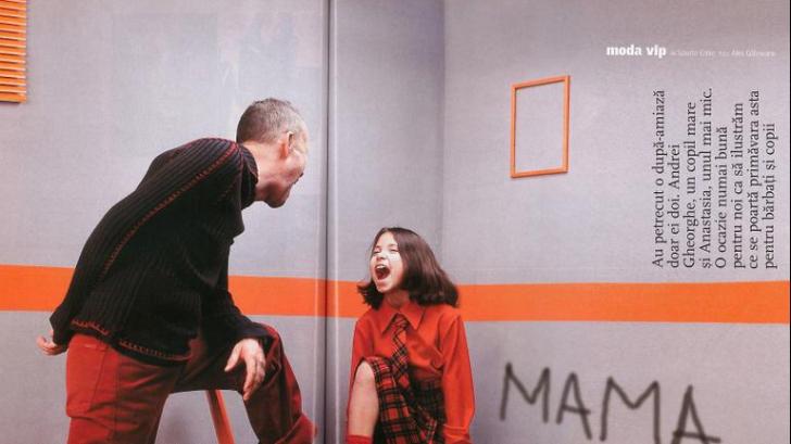 Imagini de colecție cu Andrei Gheorghe și fiica acestuia, Anastasia