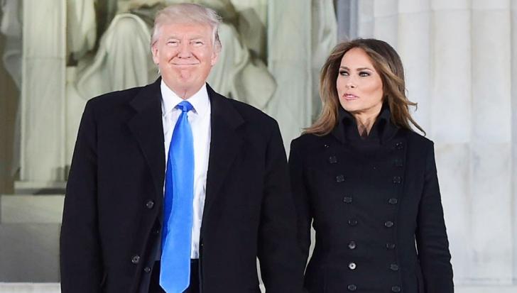 Trump și Melania, într-o ipostază bizară