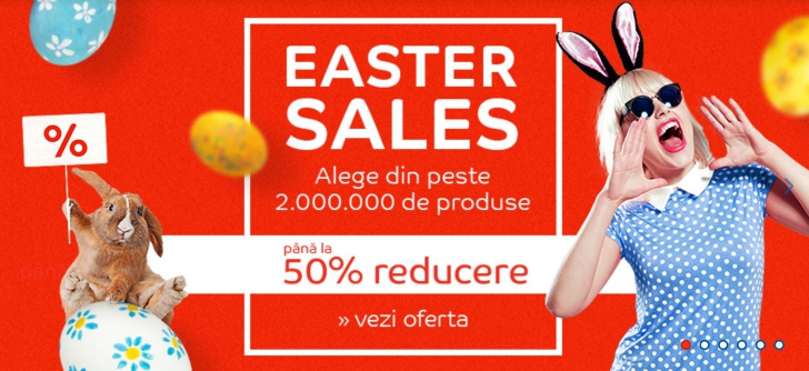 eMAG – A inceput promotia de Paste! Easter Sales aduce 2 milioane de oferte