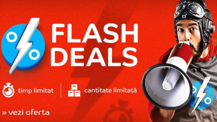 Isterie la eMAG – Flash Deals aduce reduceri imense. In acelasi e si campania de Paste