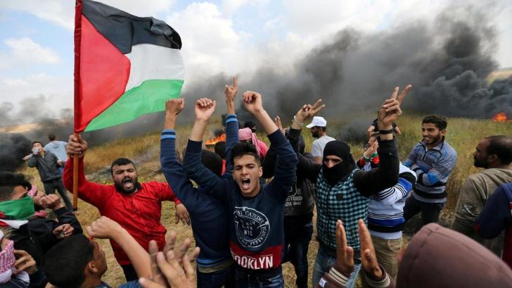 Protest masiv în Fâșia Gaza