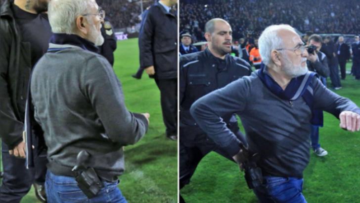 Patronul lui Răzvan Lucescu la PAOK, omul care a intrat cu pistolul pe teren, şi-a aflat pedeapsa
