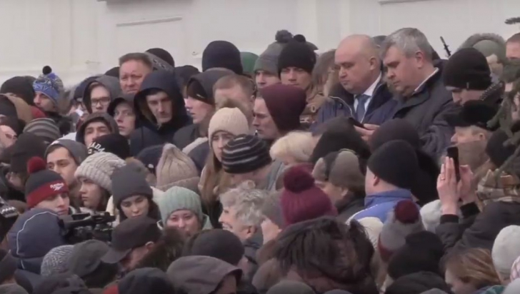 Protest laKemerovo după incendiul din mall