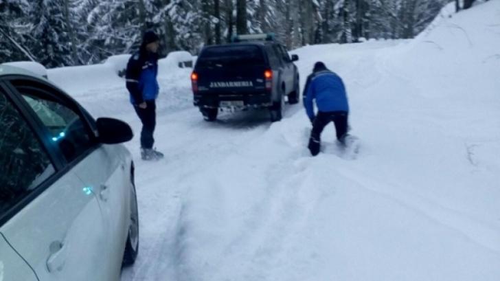 Sinaia, turiștii blocați în zăpadă