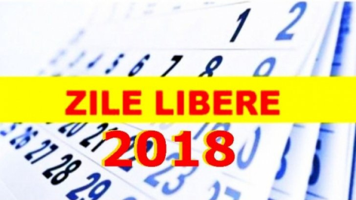 Zile libere 2018