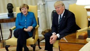 Donald Trump, alături de Angela Merkel, la Casa Albă