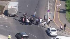 Accident spectaculos în Galaţi, provocat de soţia unui poliţist. Femeia era băută