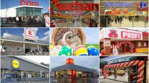 Magazine deschise de Paşte 2018: Program Mega Image, Lidl, Kaufland, Carrefour, Auchan, Cora