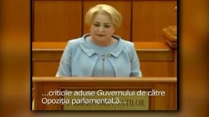 Gafele lui Dăncilă, virale pe internet. Clipul are peste 100.000 de vizualizări