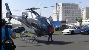 Cu elicopterul la club la Mamaia