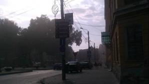 A plouat cu noroi la Timişoara