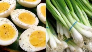 Ce se întâmplă în corpul tău dacă mănânci de Paşte ouă fierte cu ceapă verde