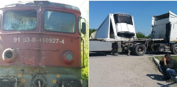 Accident feroviar în Timiş. Un tren de călători în care erau 400 de persoane a lovit un TIR / Foto: opiniatimisoarei.ro