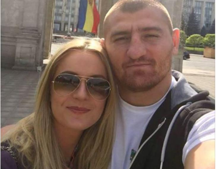 Cătălin Moroșanu și soția sa, Georgiana