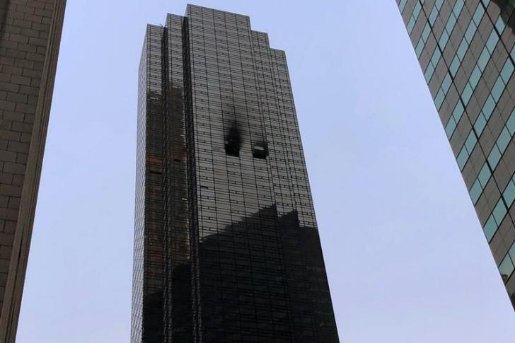<p>Incendiu la Trump Tower</p>